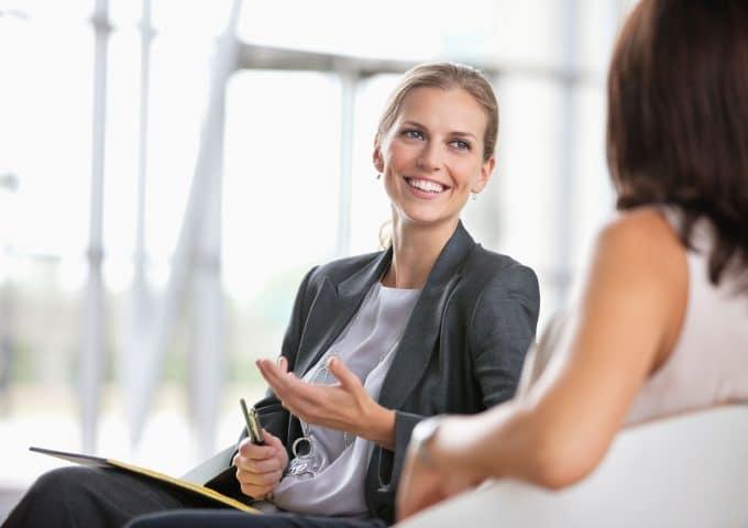 Psychologin im Gespräch
